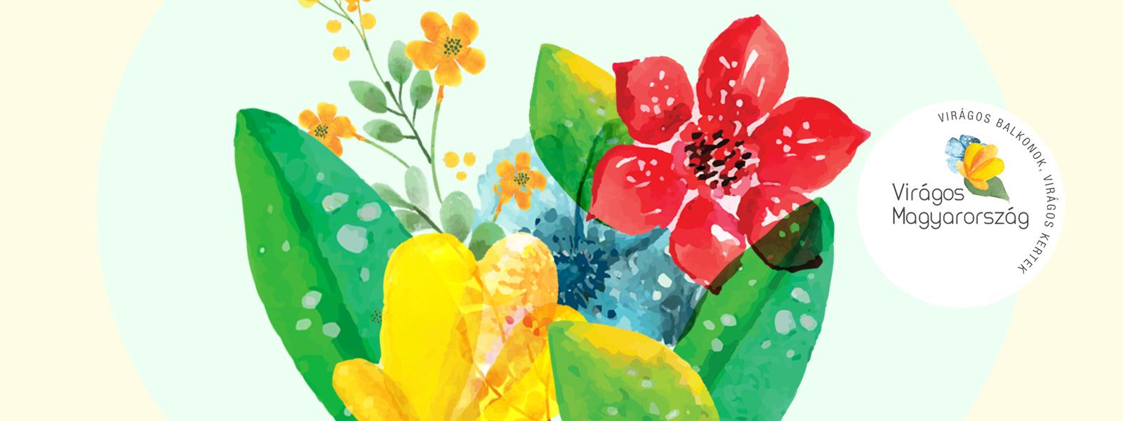 Virágos balkonok, virágos kertek